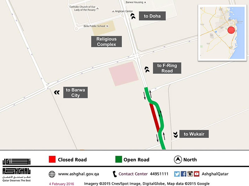 Ashghal Alternative route for a section of Al Wukair Road Zone 91